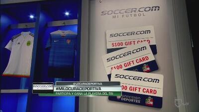 Participa y gana la playera del 'Tri' con Soccer.com