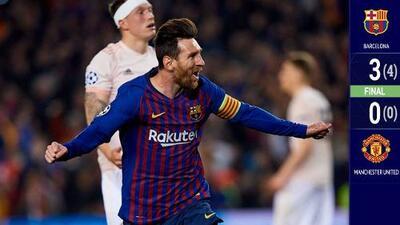 Guiado por un gran Messi, el Barça venció al United y está en las Semifinales de la Champions