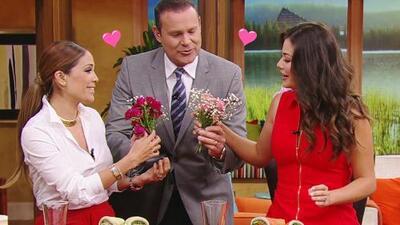 """#DAEnUnMinuto: Alan Tacher sorprendió con flores a las """"mamacitas"""" de Despierta América"""