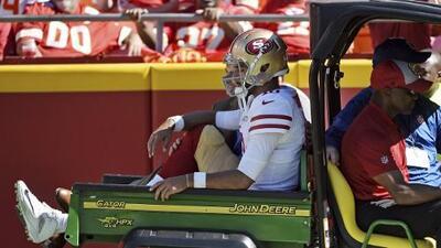 Los 49ers temen una lesión severa en la rodilla de Jimmy Garoppolo