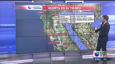 ¿Continuará la lluvia en Sacramento?