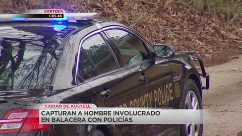 Arrestan a hombre que presuntamente le disparó a policía en el condado de Cobb