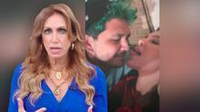 """""""Le va a sacar un…"""": dice Lili al ver a Belinda metiendo su lengua en la nariz de Christian Nodal"""