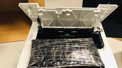 Aseguran en la Ciudad de México droga oculta en impresoras dirigida a Chicago