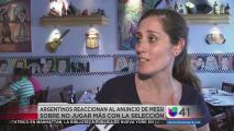 Fanáticos decepcionados ante anuncio de renuncia de Messi