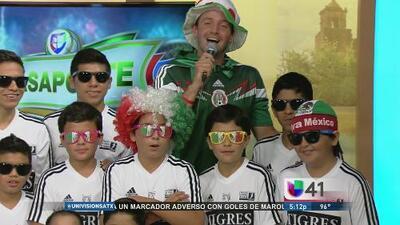 Paco Fuentes vivió el partido con la academia Tigres SA