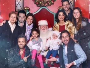 La divertida navidad de Eugenio Derbez y su familia