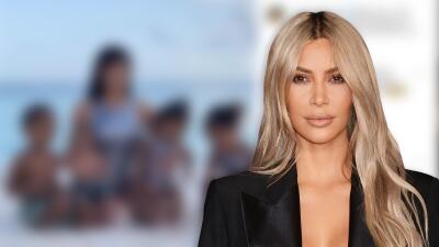 """""""Casi imposible"""" para Kim Kardashian tomarse esta foto con sus cuatro hijos"""