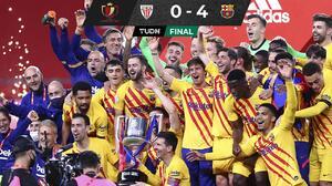 Messi marca doblete y Barcelona conquista la Copa del Rey