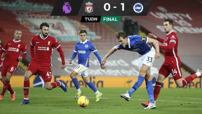Sufre Liverpool cuarta derrota tras caer ante Brighton