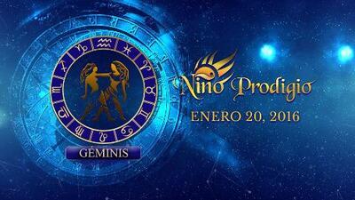 Niño Prodigio - Géminis 20 de enero, 2016