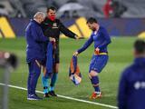 Messi se vio temblando de frío durante el encuentro ante el Real Madrid Madrid
