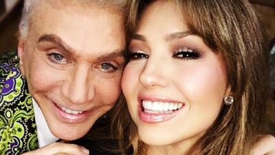 Thalía le pidió a Osmel su increíble saco, mira cómo reaccionó el divo