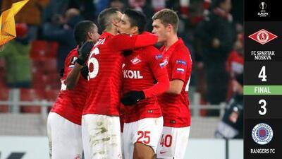 ¡Locura en Moscú! Rangers de Gerrard cae 4-3 ante Spartak en fiesta de goles y autogoles