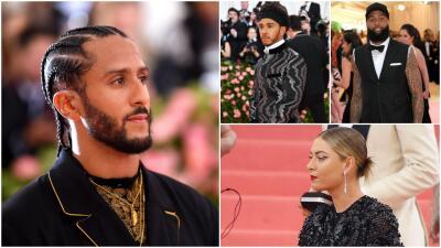 Kaepernick, Hamilton, Sharapova y otros deportistas en la alfombra rosa de la Met Gala