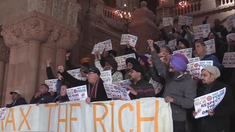 Con nueva protesta, taxistas de Nueva York rechazan en Albany el plan de congestión vehicular