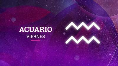 Acuario – Viernes 4 de mayo del 2018: caminas con paso seguro en el camino del amor