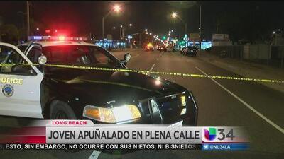 Joven muere apuñalado en Long Beach