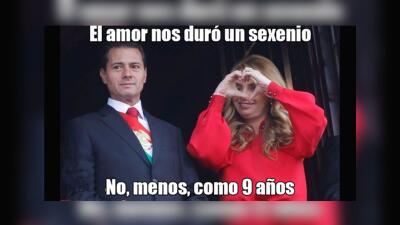 Peña Nieto hizo público que finalizó su divorcio de Angélica Rivera y se hizo presidente de los memes