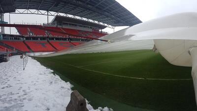 Así luce la cancha a minutos del Toronto FC vs. Chivas