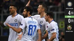 Inter de Milán venció sin problemas al Rapid Viena y está en Octavos de Final