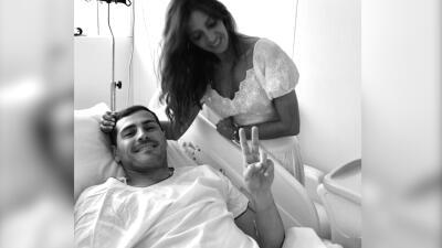 Iker Casillas sufre un infarto y con esta foto desde el hospital su esposa Sara Carbonero informa cómo está