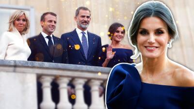 La reina Letizia repite vestido y opta por un peinado al estilo Meghan Markle