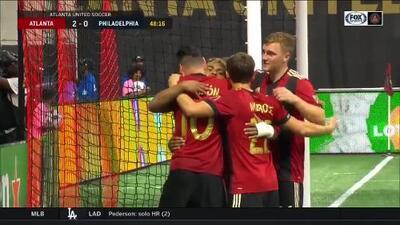 """Gol al estilo """"Dragon Ball Z"""", Josef Martínez empuja el balón y Atlanta ya gana 2-0 a Philadelphia"""