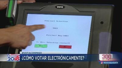 ¿Cómo usar una máquina para votar?