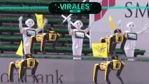 Equipo japonés tuvo apoyo de 'cheerleaders-robot'