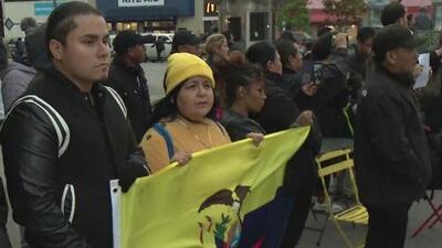 Realizan vigilia en Queens ante las violentas manifestaciones que se viven actualmente en Ecuador