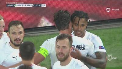 Goles con los que Austria le ganó sobre el final 1-2 a Irlanda del Norte