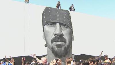 El impresionante mural en honor a Mike Muir, vocalista de Suicidal Tendencies
