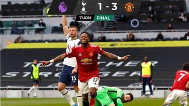 El United acorta distancias con el City tras vencer al Tottenham