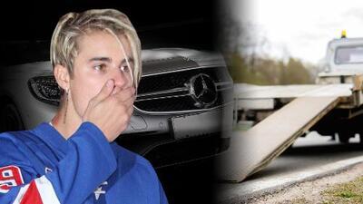 A Justin Bieber y Hailey Baldwin se les daña el Mercedes Benz en pleno cruce de Nueva York