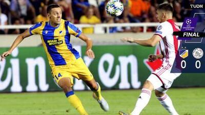 Resumen: APOEL y Ajax empatan 0-0 en somnífero cotejo sin Edson Álvarez en la cancha