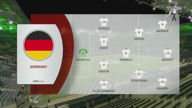 ¡Alineaciones confirmadas para el Alemania vs Bielorrusia!