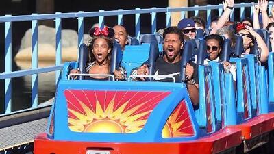 Russell Wilson y Ciara pasan un día en Disneyland