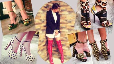 Galilea Fashion: Una miradita a su espectacular colección de zapatos