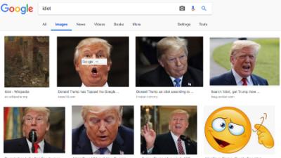 """¿Por qué aparece la foto de Trump cuando se busca en Google la palabra """"idiota""""?"""