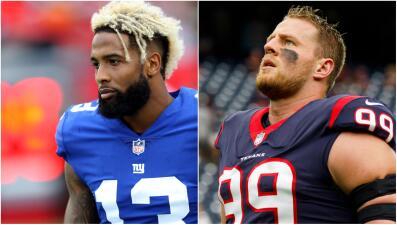 Odell Beckham y JJ Watt, fuera: La NFL pierde a dos de sus mejores estrellas