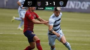 Alan Pulido se reencontró con el gol pero Sporting KC cayó en Salt Lake