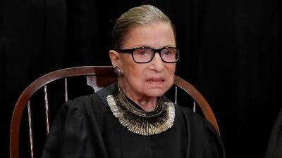 Jueza Ruth Bader Ginsburg regresa a casa tras una cirugía para extirparle dos nódulos del pulmón izquierdo