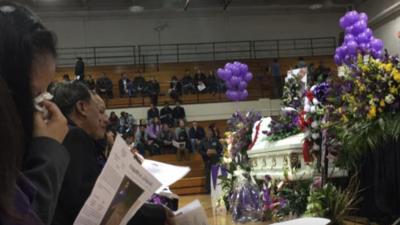 """""""Alguien le arrebató la vida a mi hija, pero no su alegría"""": en medio de globos y flores despiden a Hania Aguilar"""