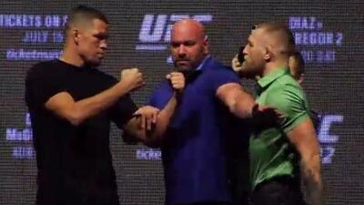 Nate Díaz y Connor McGregor presentaron su pelea para el UFC 202
