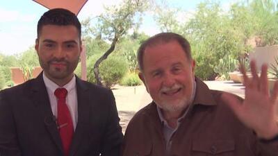 Raúl de Molina visitó los estudios de Univision Arizona después de una ausencia de más de 15 años