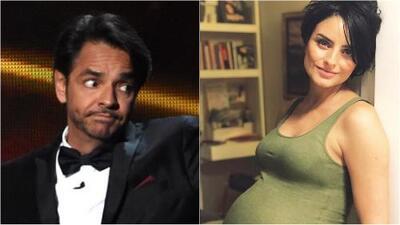 """Eugenio Derbez llama """"alien"""" al bebé de su hija Aislinn al tocarle su barriguita"""