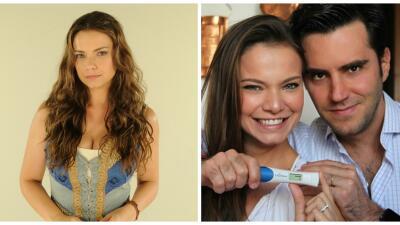 Milena Toscano, la protagonista de 'El rico y Lázaro', anunció su embarazo con esta imagen