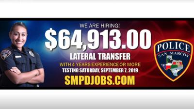 Departamento de Policía de San Marcos aumenta el salario inicial de algunos reclutas