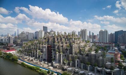 """Según sus creadores, el objetivo """"fue diseñar un complejo denso y de grandes dimensiones que se relacione con el parque y distrito artístico vecinos y que tenga interés a escala humana""""."""